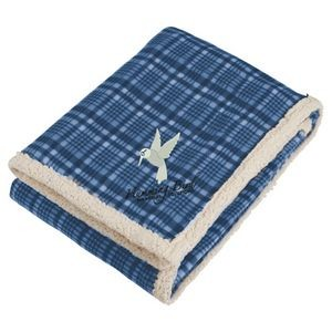 Field & Co.� Plaid Sherpa Blanket w/Full Color Car