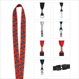 "1"" Good Value® Fine Print Lanyard"